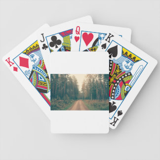 Brown Dirt Road Between Green Leaved Trees Daytime Bicycle Playing Cards