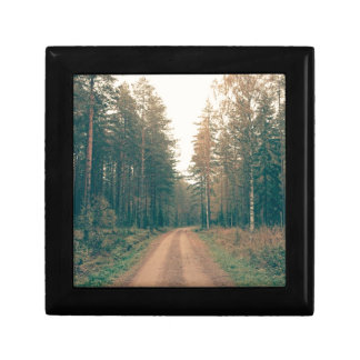 Brown Dirt Road Between Green Leaved Trees Daytime Gift Box