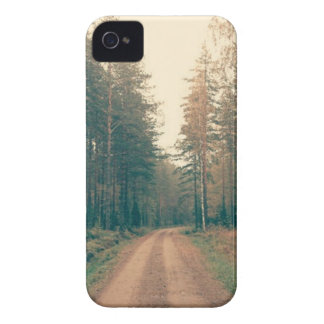 Brown Dirt Road Between Green Leaved Trees Daytime iPhone 4 Case
