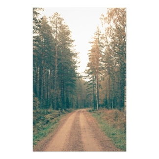 Brown Dirt Road Between Green Leaved Trees Daytime Stationery