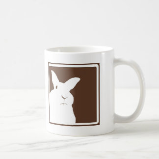 Brown Disapproving Rabbits Mug