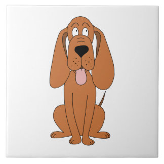 Brown Dog Cartoon. Hound. Tile