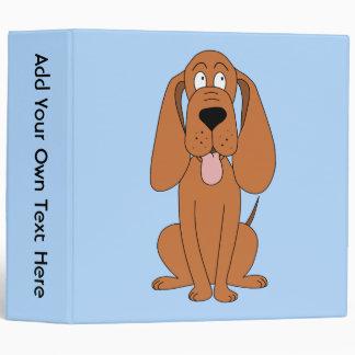 Brown Dog Cartoon. Hound. Vinyl Binder
