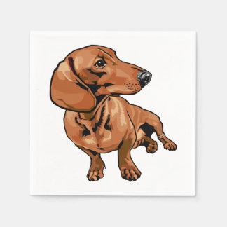 Brown Dog Paper Napkins