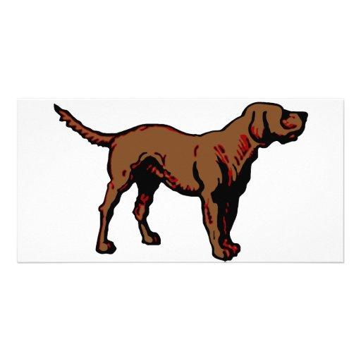 Brown Dog Customized Photo Card