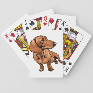 Brown Dog Playing Cards