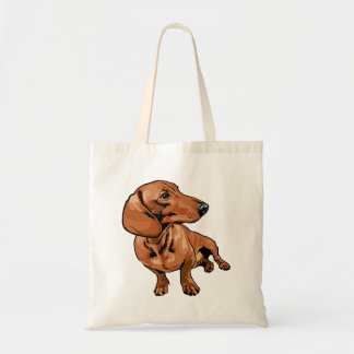 Brown Dog Tote Bag