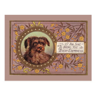 Brown Dog Vintage Reproduction Postcard