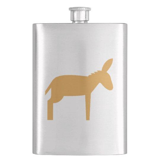 Brown Donkey Hip Flask