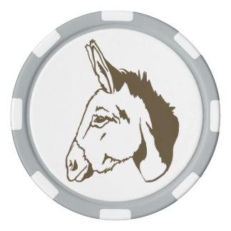 brown Donkey Poker Chip set!