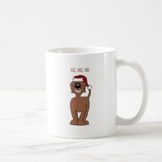 Brown Doodle Santa Coffee Mug