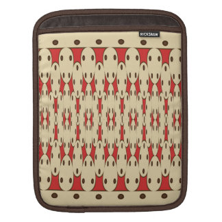 Brown dots iPad sleeve