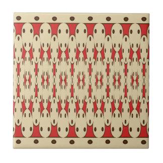 Brown dots tile