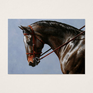Brown Dressage Horse Portrait Business Card