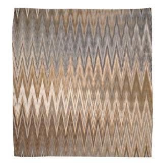 Brown Earthy Wavy Pattern Bandana