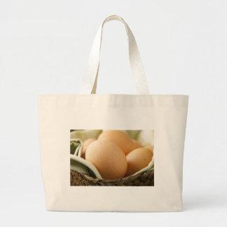 Brown Eggs Cloth Shopping Bag
