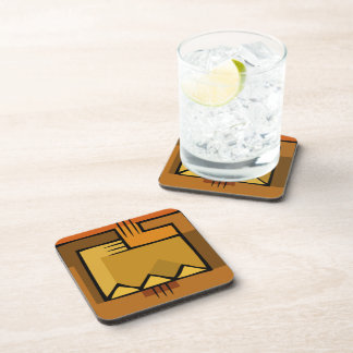 Brown Egyptian Retro Cork Coaster Set