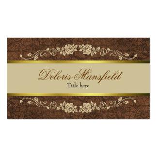 Brown élégant et carte de visite bronzage