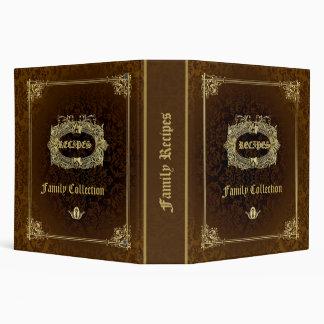 Brown & Elegant Gold Recipes Binder