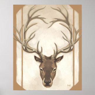 Brown Elk Print