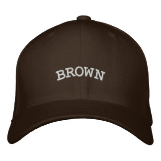 BROWN EMBROIDERED HAT
