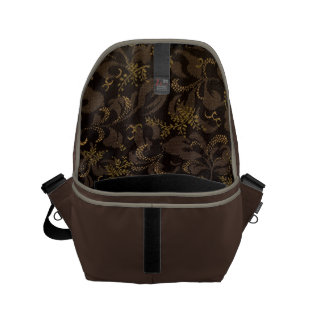 Brown Embroidery Courier Bags