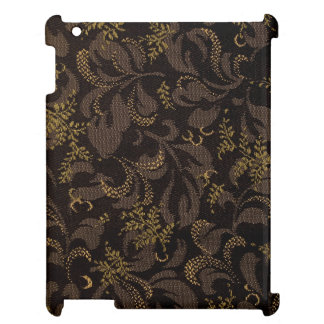 Brown Embroidery Look iPad Case