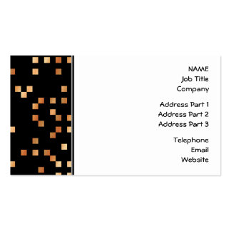Brown et carrés bronzages sur le noir carte de visite standard