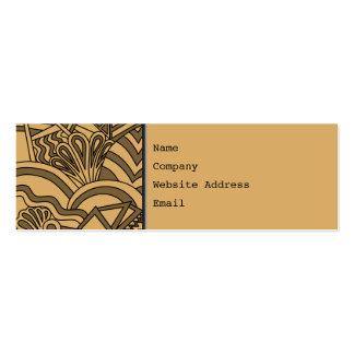 Brown et conception bronzage de style d'art déco carte de visite petit format