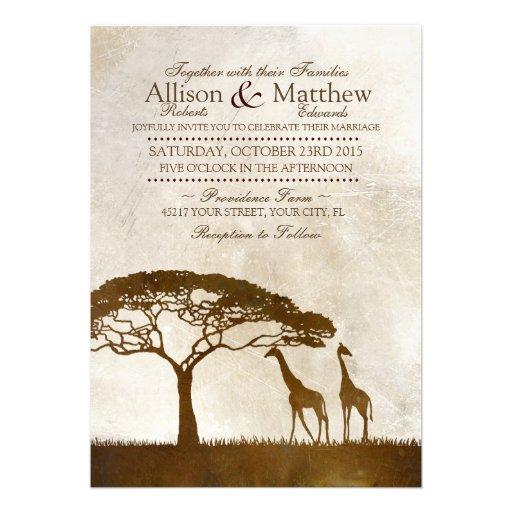 Brown et faire-part de mariage africain en ivoire