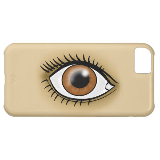 Brown Eye icon Case For iPhone 5C