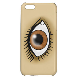 Brown Eye icon Cover For iPhone 5C