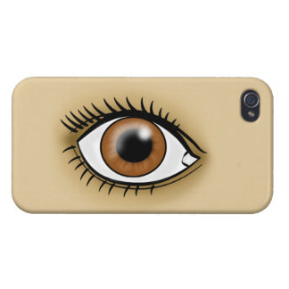 Brown Eye icon iPhone 4 Cases