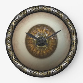 Brown eye wall clock
