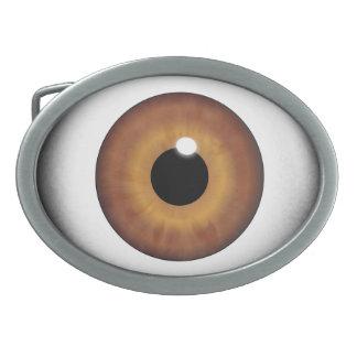 Brown Eyeball Eye Iris Cool Custom Belt Buckle