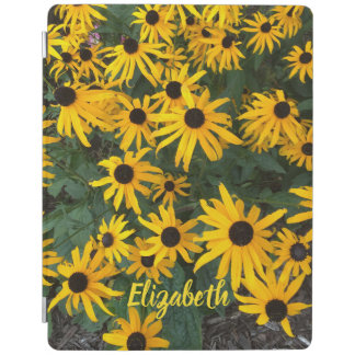 Brown Eyed Susan Wildflowers and Name iPad Cover