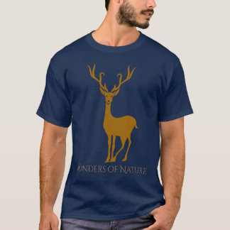 Brown Fantasy Deer Stag Wonders of Nature T-Shirt