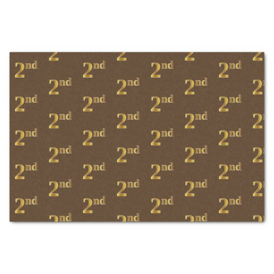 Brown, Faux Gold 2nd (Second) Event Tissue Paper
