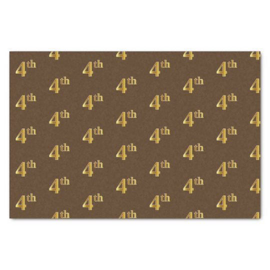 Brown, Faux Gold 4th (Fourth) Event Tissue Paper
