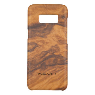 Brown Faux Wood Texture Modern Design Case-Mate Samsung Galaxy S8 Case