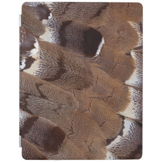 Brown Feather Design iPad Cover