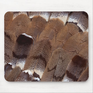 Brown Feather Design Mouse Pad