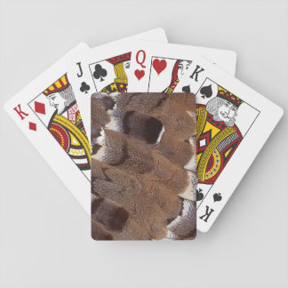 Brown Feather Design Playing Cards