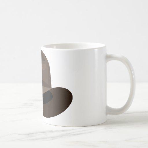 Brown Fedora narrow ribbon Coffee Mug