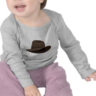 Brown Fedora narrow ribbon Shirt