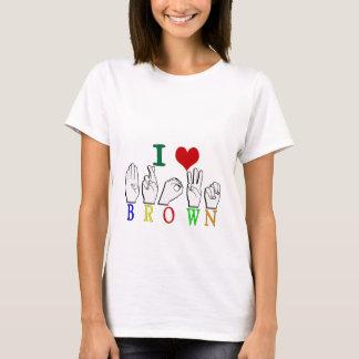 BROWN FINGERSPELLED ASL NAME SIGN T-Shirt