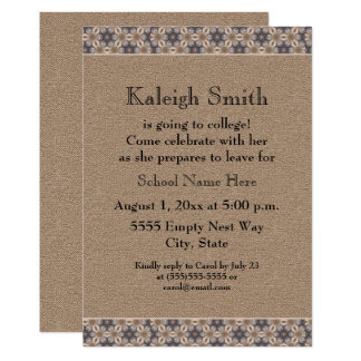 Brown Floral Abstract Trunk Party Invitation