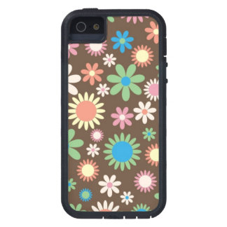 Brown floral design case for the iPhone 5
