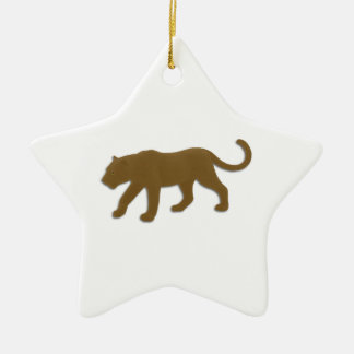 Brown Florida Panther Ceramic Ornament