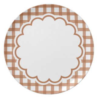 Brown Flower Plate
